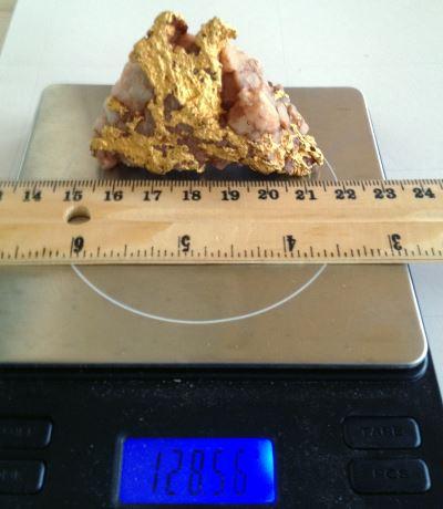 129 gram gold specimen