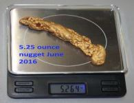 Gold Nugget 5 Ounces - Click to enlarge