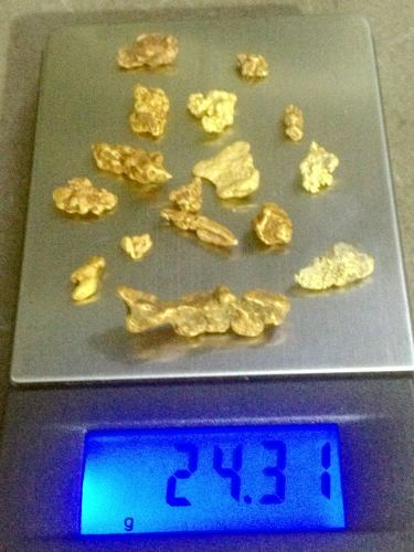 25 grams of Gold Nuggets