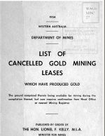 Cancelled Gold Mining Leases