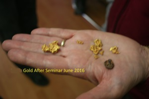 Gold Found after Gold Prospecting Seminar Cue