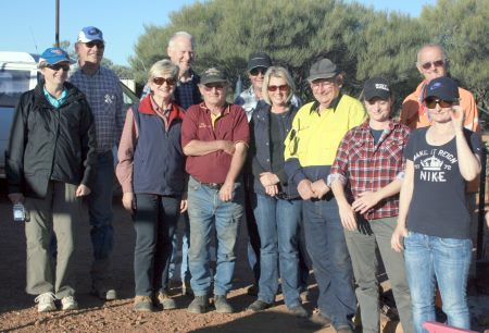 group at the Metal Detecting Traing Cue WA