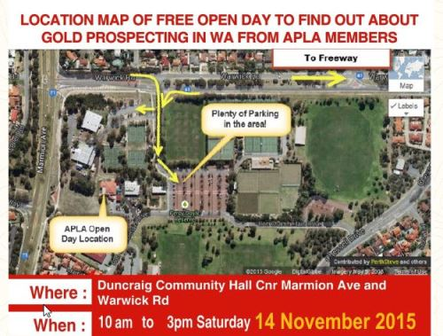APLA Open day 14 November 2015 Location Map