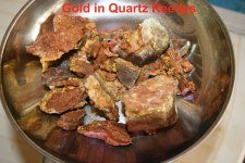 Gold in Quartz from a 6 Ounce patch - Click to enlarge