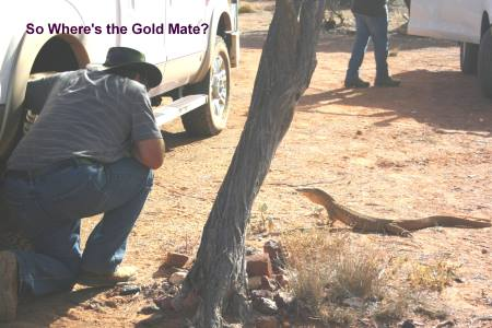 Bungarra and Allan Trying to Find Out Where the Gold is.