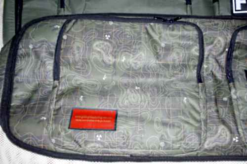 Designer patterned metal detector bag - example of design only