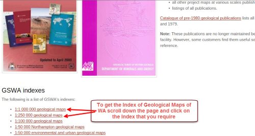 Geological Maps Download Index page