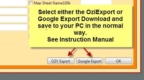 Export and Save as Either Ozi Explorer or Google Earth Waypoints.