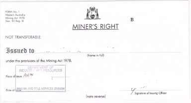 Metal Detecting Permit