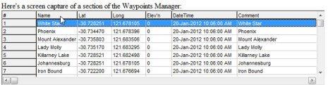 TrackRanger Waypoints Manager Screenshot