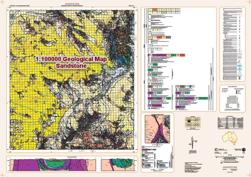 Factual Geological Maps Western Australia - SANDSTONE 1:100000