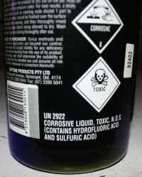 Alibrite poisons warning