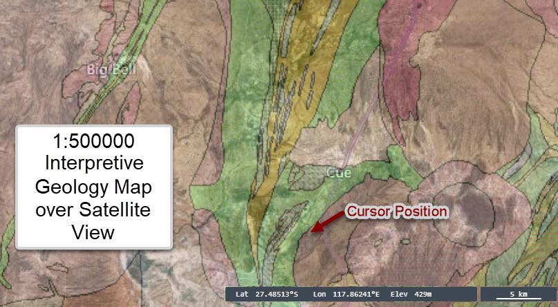 Interpretive Geological Map View Cue Area