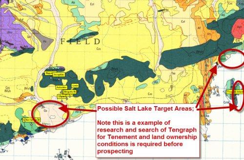 Salt Lake Metal Detecting target area