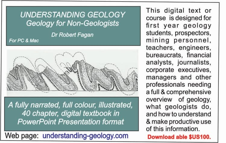 Click to go to Understanding Geology By Dr R Fagan Webpage